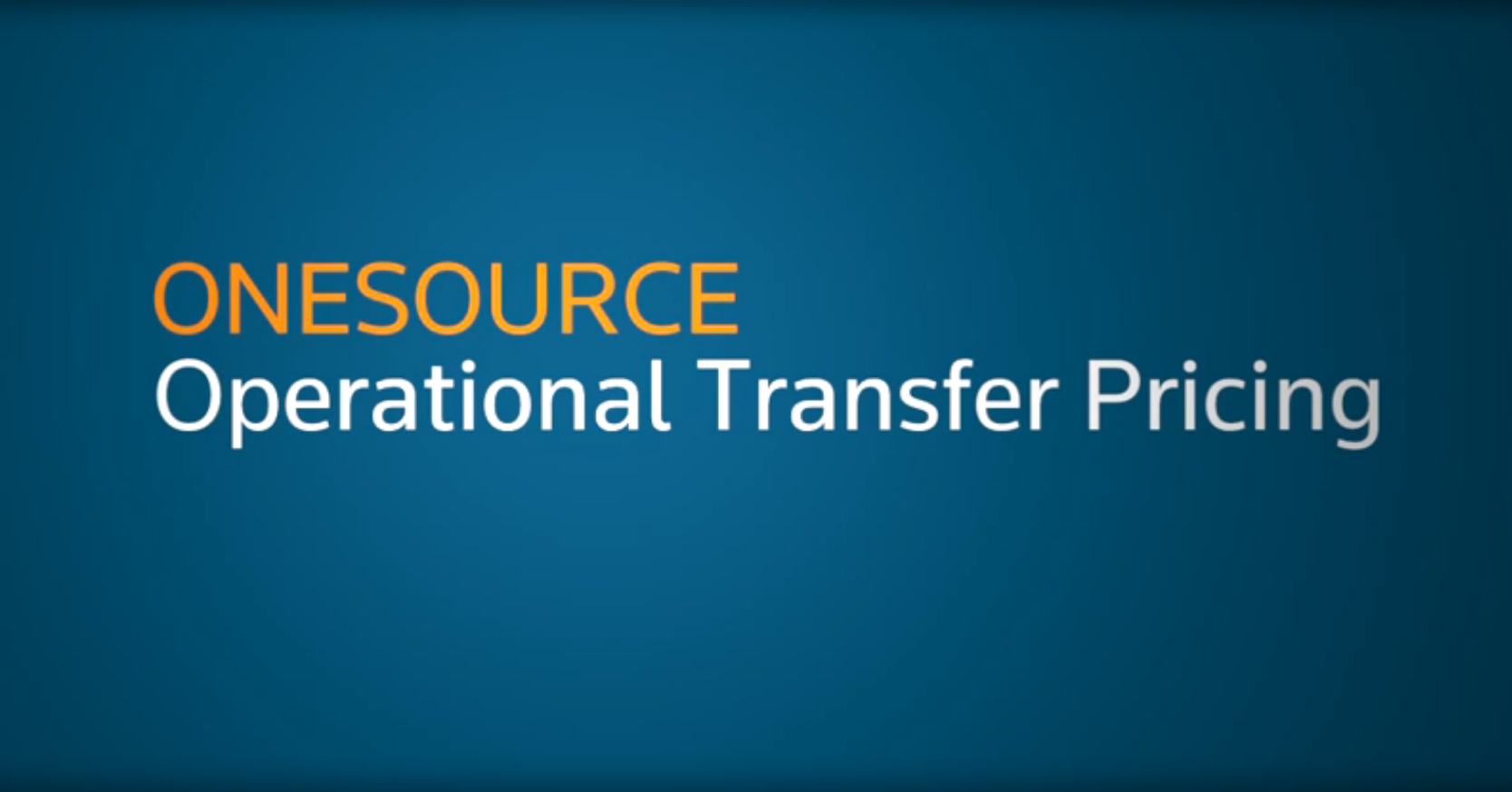 Operational transfer pricing