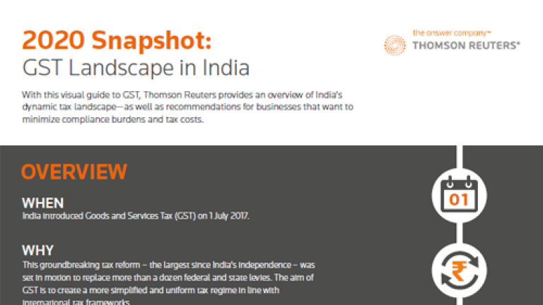 2020 Snapshot: GST Landscape in India