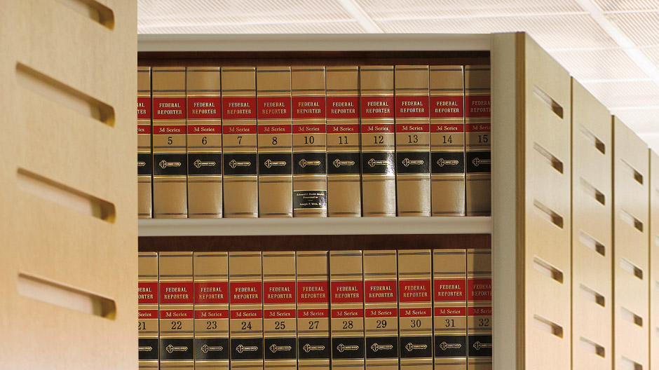 Law Books Shelf