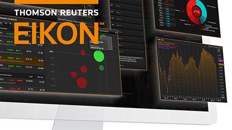 Images of Eikon on a desktop screen
